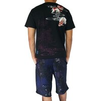 和柄Tシャツ と ハーフパンツ、巾着の3点セット 絡繰魂 金魚刺繍旅のSET UP sousakuzakka-koto 03