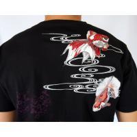 和柄Tシャツ と ハーフパンツ、巾着の3点セット 絡繰魂 金魚刺繍旅のSET UP sousakuzakka-koto 06