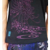 和柄Tシャツ と ハーフパンツ、巾着の3点セット 絡繰魂 金魚刺繍旅のSET UP sousakuzakka-koto 07