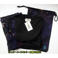 和柄Tシャツ と ハーフパンツ、巾着の3点セット 絡繰魂 金魚刺繍旅のSET UP sousakuzakka-koto 08