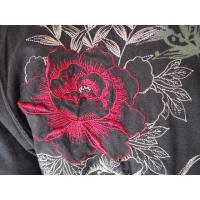 和柄tシャツ 【絡繰魂】生け花 ヘンリーネックTシャツ ロンT 刺繍 メンズ 黒 白|sousakuzakka-koto|06