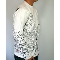 和柄tシャツ 絡繰魂  大鷲刺繍 ロンT tシャツ メンズ 黒 白291003|sousakuzakka-koto|12