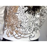 和柄tシャツ 絡繰魂  大鷲刺繍 ロンT tシャツ メンズ 黒 白291003|sousakuzakka-koto|16