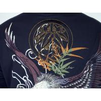 和柄tシャツ 絡繰魂  大鷲刺繍 ロンT tシャツ メンズ 黒 白291003|sousakuzakka-koto|07