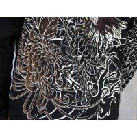 和柄tシャツ 絡繰魂  大鷲刺繍 ロンT tシャツ メンズ 黒 白291003|sousakuzakka-koto|08