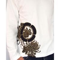 和柄Tシャツ 長袖Tシャツ【絡繰魂】不死鳥 刺繍 ロンT メンズ 黒 白|sousakuzakka-koto|12