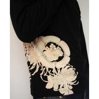和柄Tシャツ 長袖Tシャツ【絡繰魂】不死鳥 刺繍 ロンT メンズ 黒 白|sousakuzakka-koto|06