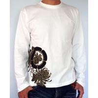和柄Tシャツ 長袖Tシャツ【絡繰魂】不死鳥 刺繍 ロンT メンズ 黒 白|sousakuzakka-koto|08