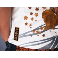 和柄tシャツ 絡繰魂  浮世絵刺繍「喜多川歌麿」半袖Tシャツ tシャツ メンズ 黒 白 292021 UTAMRO 美人画|sousakuzakka-koto|16