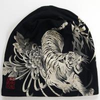 絡繰魂 抜染ワッチCAP 和柄帽子  虎 髑髏|sousakuzakka-koto|02