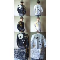 【在庫処分】 和柄 tシャツ 錦 長袖 tシャツ 刺繍 月光鶴 ロンT メンズ 白/黒|sousakuzakka-koto|06