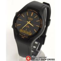 CASIO カシオ スタンダード アナデジ 腕時計 AW-90H-9EVDF 海外モデル ブラック×...