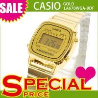 カシオ CASIO レディース 腕時計 デジタル表示 LA670WGA-9DF ゴールド カシオ C...