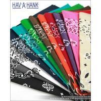 ペイズリーバンダナアメリカ製HAV-A-HANKハバハンク 小粋なポケット遊びで周囲の視線を惹きつけ...