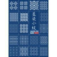日本の伝統色の藍色と和柄のコラボレーション。