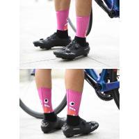 (2点までクリックポスト200円OK)Monton[モントン]サイクリングソックス[Funnymonster-ショートタイプ]フリーサイズ自転車用靴下サイクルソックス|sp-kid|07