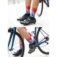 (2点までクリックポスト200円OK)Monton[モントン]サイクリングソックス[Funnyshark-ショートタイプ]フリーサイズ自転車用靴下サイクルソックス|sp-kid|03