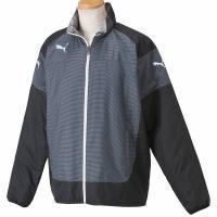 ★プーマTeam trainingシリーズのナカワタジャケット。冷たい風の侵入を防ぐ高機能防風素材に...