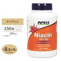 ナイアシン タイムリリース 500mg 250粒 NOW Foods ナウフーズ ◇point