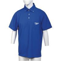 Speedo スピード 【男女兼用 トレーニングウェア】 ポロシャツ SD14S01 ブルー