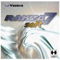 ヤサカ Yasaka ラクザ7ソフト(卓球ラバー) B77 アカ
