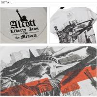 ALCOTT アルコット Tシャツ メンズ 半袖 TEE アメカジ グラフィック TS10548 AC11486 正規品 本物保証 ゆうメール便送料無料
