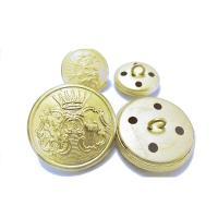 20mm4個 15mm8個 金色(つや消し) ジャケット用 メタル(金属)ボタン12個入り