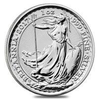 ブリタニア銀貨 20周年記念 特別デザイン イギリス 1オンス .999 未流通品 2017年 コイ...
