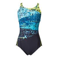 Lap Swimming ウイメンズスーツ フィットネス水着 トレーニング水着  前面と背中に大きく...