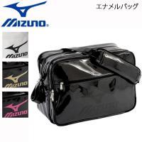 MIZUNO(ミズノ)エナメルバッグ(L)  ■カラー  09:ブラック×ブラック  70:ホワイト...