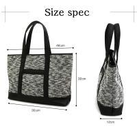 トートバッグ メンズ キャンバス 無地 杢 ミックス 10リットル オフィスカジュアル ビジカジ 鞄 カバン バッグ