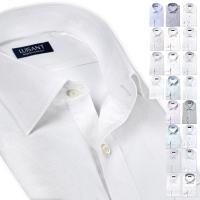 ワイシャツ ドレスシャツ ビジネスシャツ ボタンダウン ワイドカラー メンズ 長袖 Yシャツ 形態安定 UND-ONE