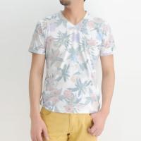プリントtシャツ メンズ プリント tシャツ 花柄