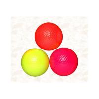 (財)日本マレットゴルフ協会公認球   芝コース、転がりの良いコース向きの蛍光ディンプルボールです。...
