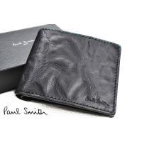 ブランド  ポールスミス Paul Smith(メンズ)    商品説明  クラッシュレザー 二つ折...