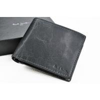 ブランド ポールスミス Paul Smith(メンズ)   商品説明 シワ加工が素敵な二つ折り 財布...