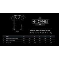 NO COMMENT PARIS ノーコメントパリ 半袖 Tシャツ ホワイト ラウンドネック Vネック メンズ レディース 大きい 小さい  ジャスミン グラフ jasmine gr