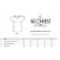NO COMMENT PARIS ノーコメントパリ 半袖 Tシャツ ホワイト ラウンドネック Vネック メンズ レディース 大きい 小さい ファッションオムグラマーシテ