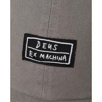 DeusExMachina デウスエクスマキナ キャップ CAS CAP Grey / Blue 帽子 グレー ブルー ロゴ 刺繍 コットンキャップ ストラップバック Deus Ex Machina[帽子]