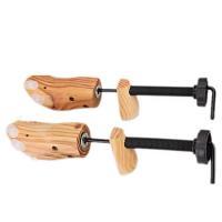 シューキーパー 木製 メンズ シューツリー レディース シューズストレッチャー サイズ調整 左右兼用 2個セット