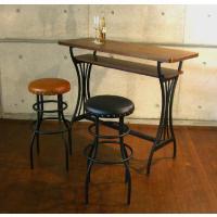 オシャレなカウンターテーブルです。  サイズ:W120×D50×H97cm カラー:ブラウン(脚:ブ...