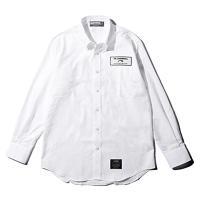 リバーサル シャツ rv17aw020 reversal REVERSAL CANNONBALL PIT SHIRTS 長袖 ホワイト WHITE