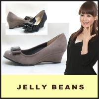 ジェリービーンズ JELLY BEANS ラウンドトゥ パンプス PUMPS(3951)ウェッジソー...