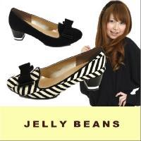 ジェリービーンズ JELLY BEANS ラウンドトゥ オペラパンプス PUMPS(5501)サテン...