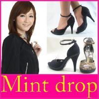 ハイヒール パンプス Mint drop ( ミント ドロップ )(8803)セール オープントゥ ...