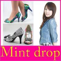 オープントゥ パンプス Mint drop ( ミントドロップ )(9361) 2way リボンコサ...