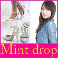 ハイヒール パンプス Mint drop (ミント ドロップ)(9403) ポインテッドトゥ ツイー...