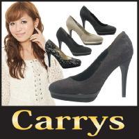 ハイヒール パンプス Carrys ( キャリーズ )(501) ラウンドトゥ ヌバック 美脚 ピン...