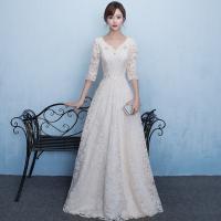 人気!ウエディングドレス Aライン 結婚式 ウエディングドレス aライン 白 格安 袖あり レース ...