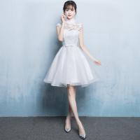 ■背中のデザイン:ジッパー  ■素材:紗/シフォン/サテン/ラインストーン/レース  ■カラー:白 ...